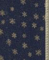 V1481 - Zlaté vločky na modré
